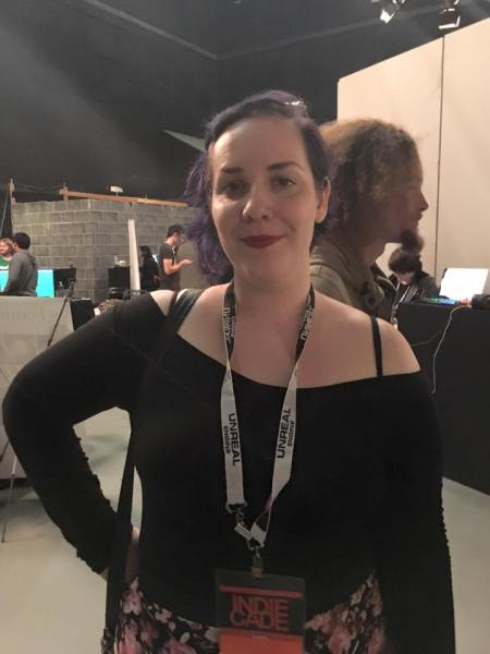Julie at 18 or Older Indiecade Booth.jpg
